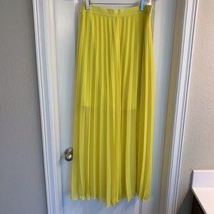 Ann Taylor Pleated Maxi Skirt